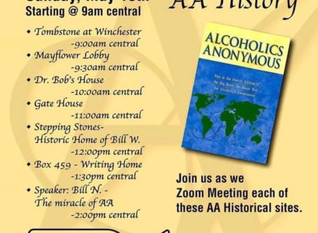Zoom meeting on History of AA