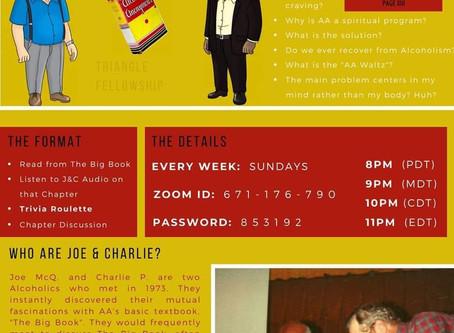 Joe & Charlie Zoom Meetings
