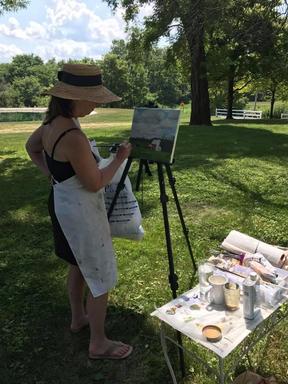 Plein air painting in Ohio