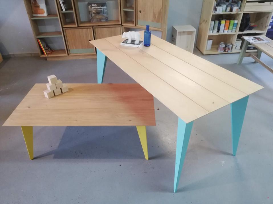 Table haute et basse Arlequin