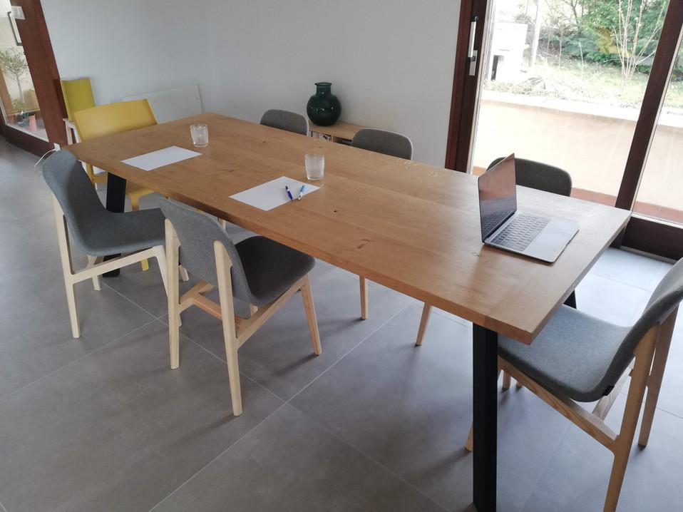 Table chene massif