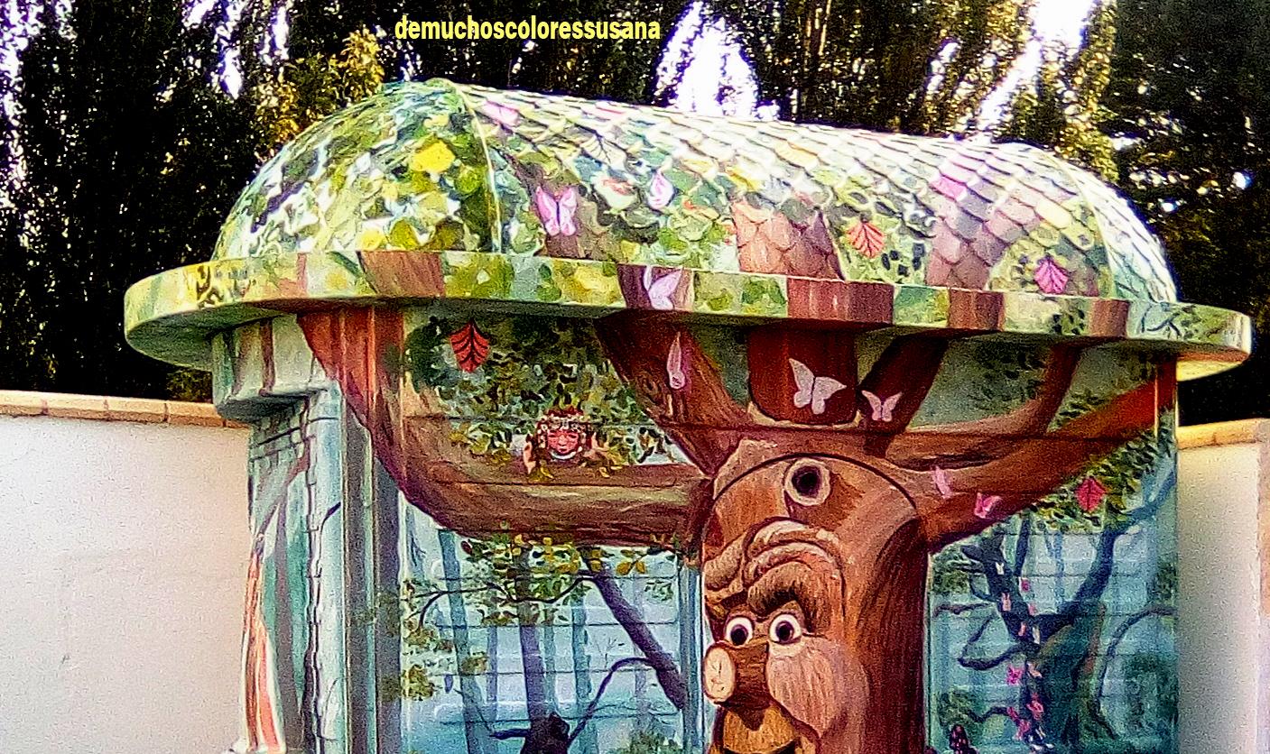 casa con bosque