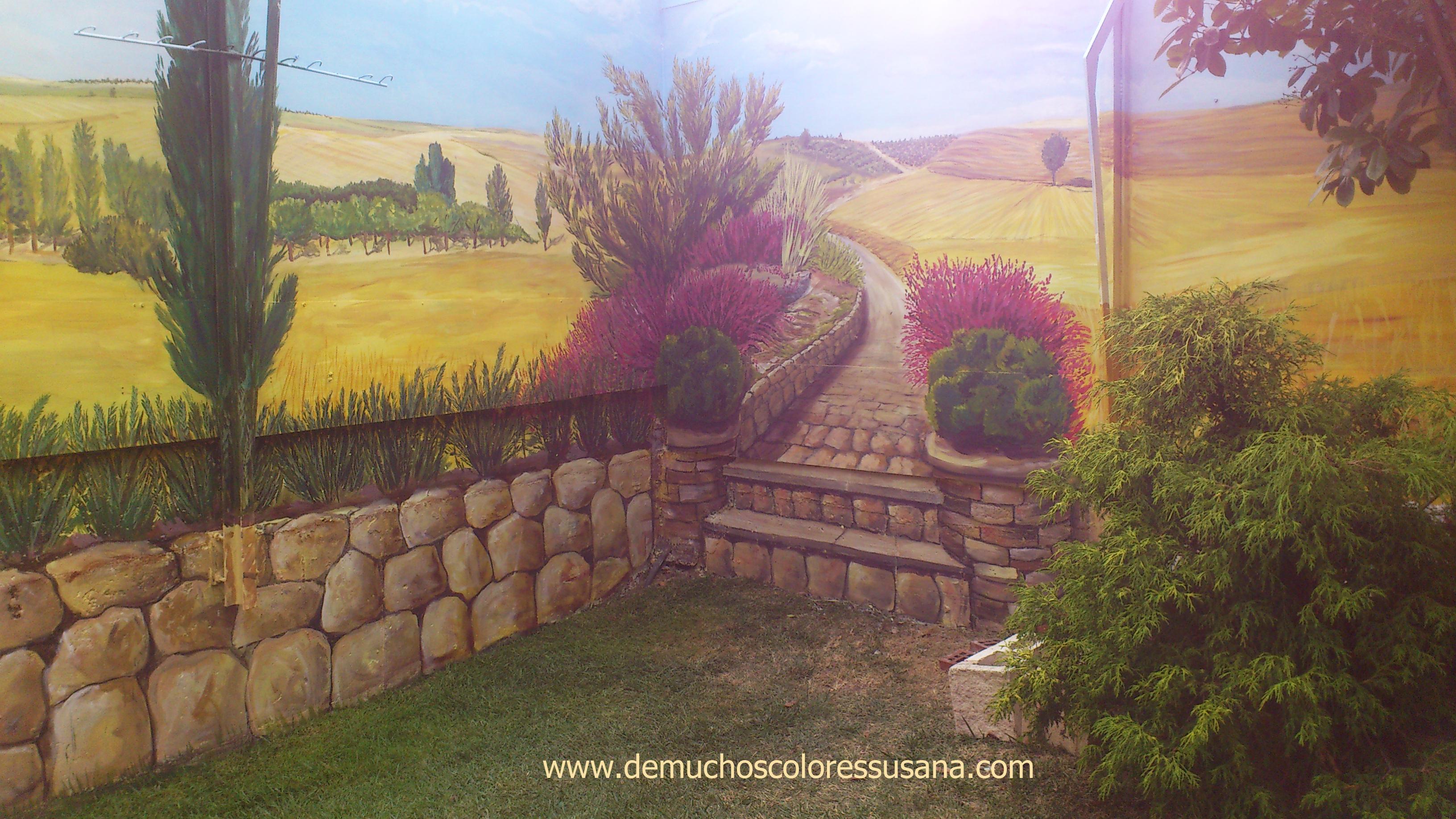 jardín con vistas al campo