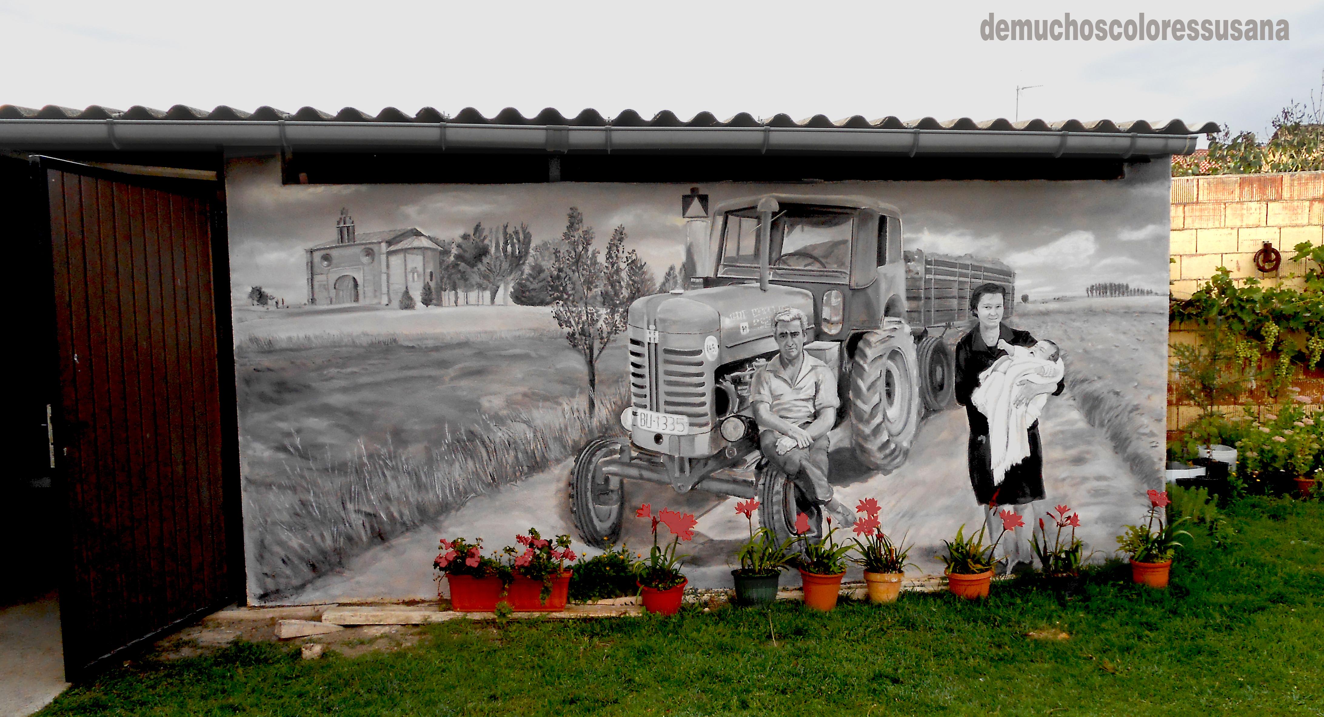 tractor y familia
