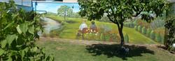 los abuelos en el jardín