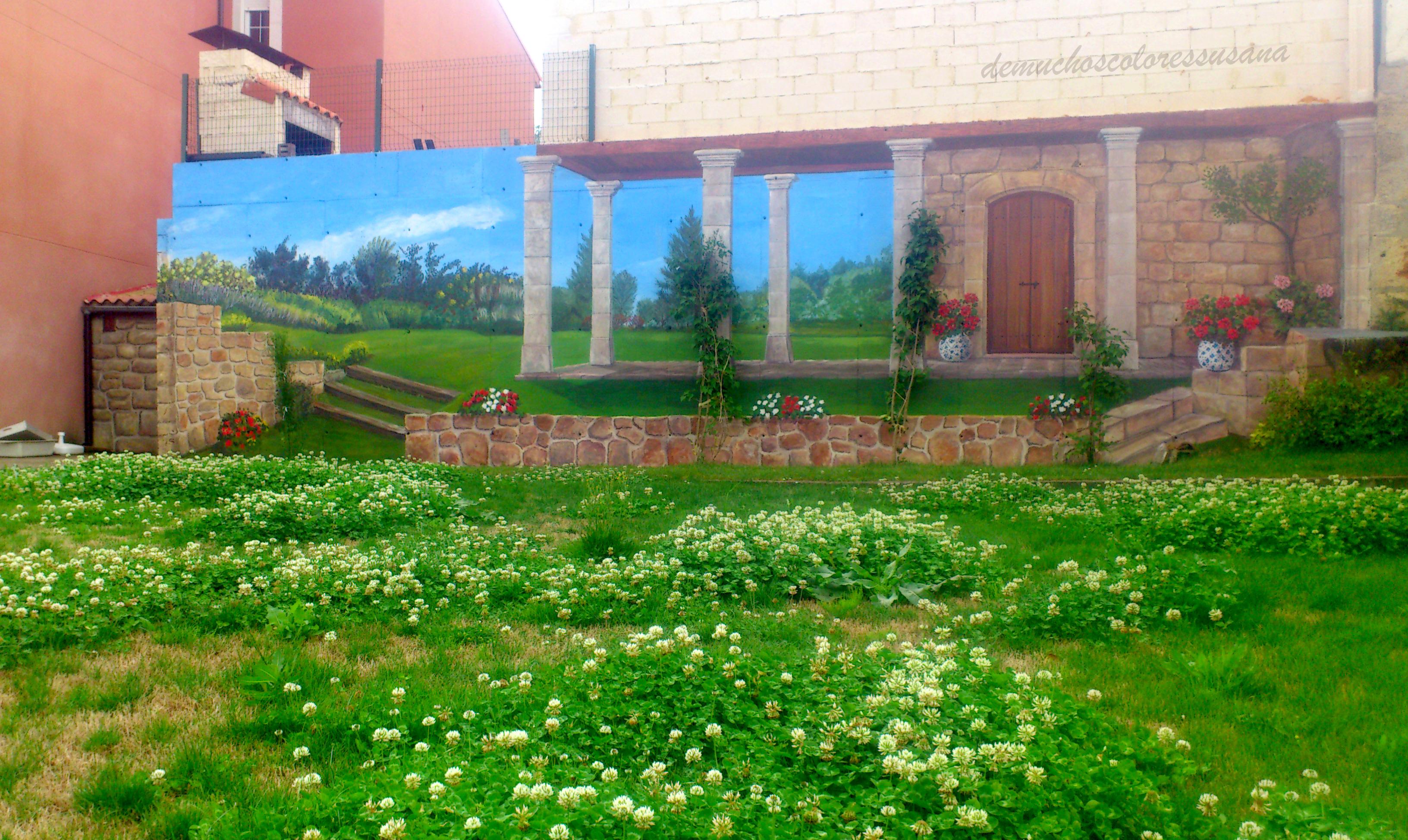 ampliando el jardín _