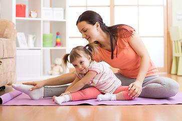 Kids yoga female teacher training child