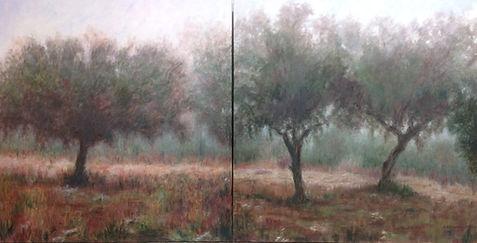 niebla en la mora,1x2,oleo sobre lienzo.
