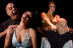 Dracula mime parody act