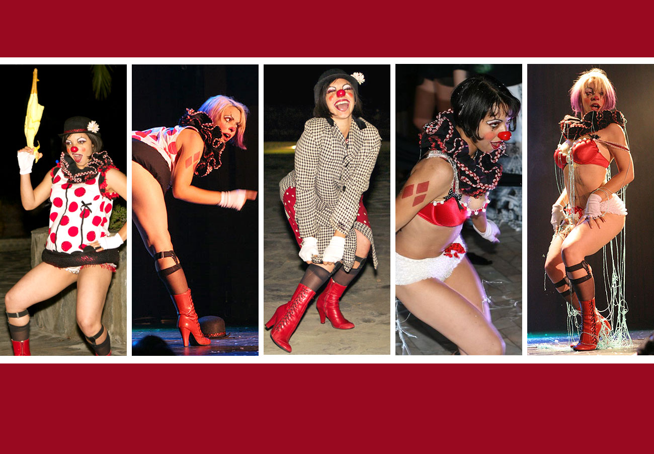 Clown burlesque act