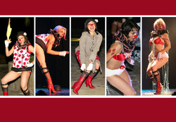 Clown burlesque act