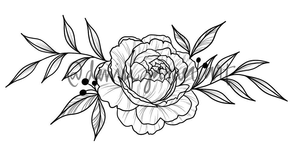 Peony SEMI-PERMANENT Tattoo