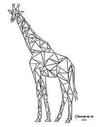Giraffe ColoringPage