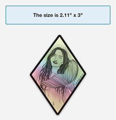 Mermaid Holographic Sticker