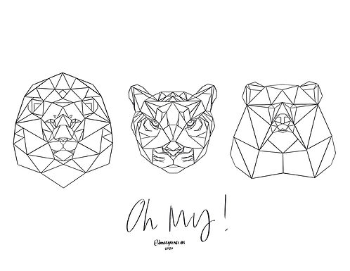 Oh My! Coloring Page