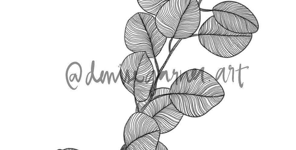 Eucalyptus SEMI-PERMANENT Tattoo
