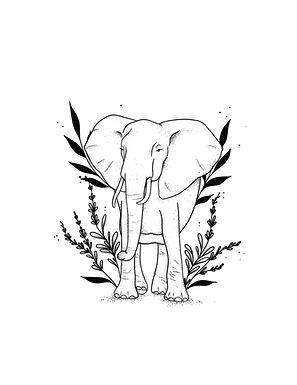 Elephant Semi-Permanent Tattoo
