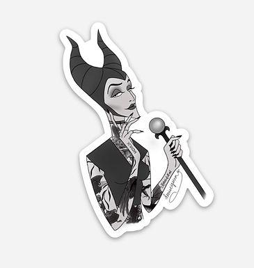 Tatted Maleficent Sticker