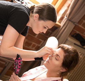 Makeup Artist Action Shot