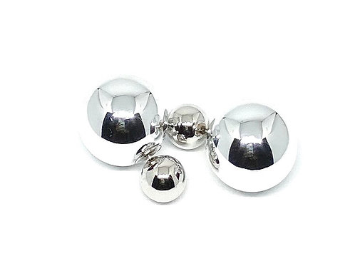 Silver Doublesided Ball Earrings