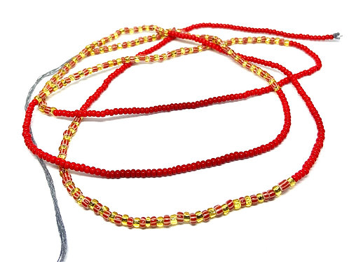 40/50in Red & Gold w/Tie Closure