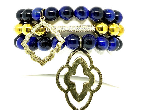 10mm Hues of Blue & Gold w/Accents