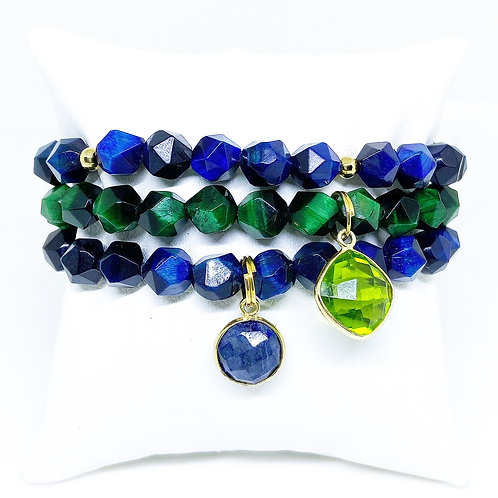 6mm Hues of Blue, Green & Gold w/Accents
