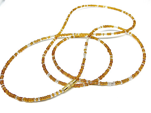 33/40in Sunflower Yellow/Gold w/Clasps