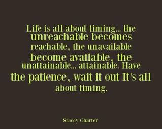 Timing.....