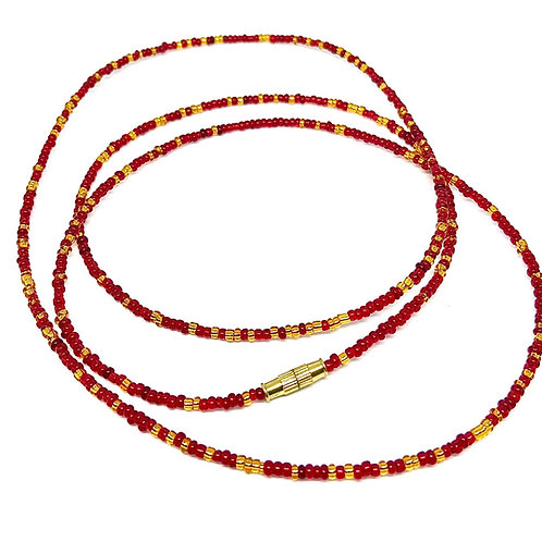 33/40in Red & Gold w/Clasps
