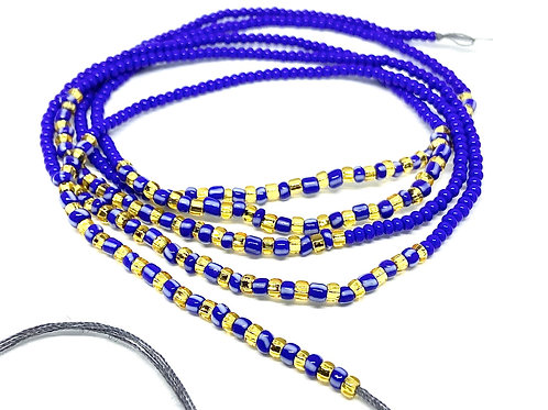 40in Blue & Gold w/Tie Closure
