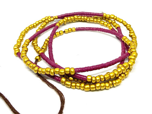 40in Cranberry & Gold w/Tie Closure