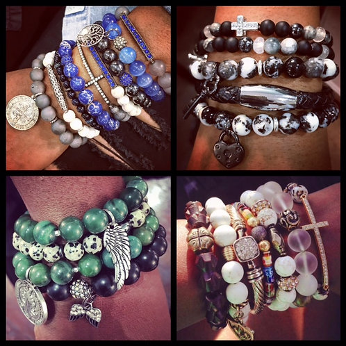 Ladies Custom Stack in Natural Stone or Leather
