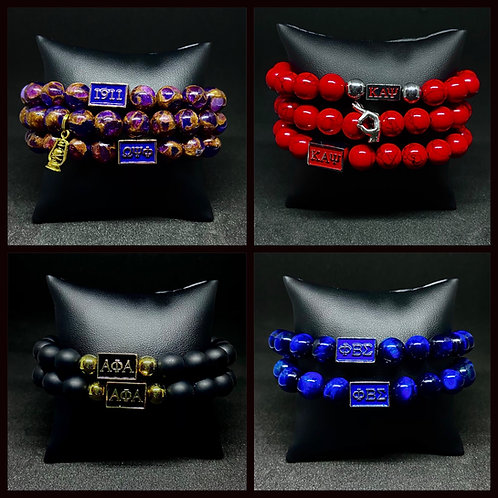 Men's 10mm Fraternity Bracelets w/Accents