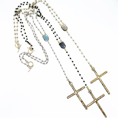 24in Gold Rosary Necklace