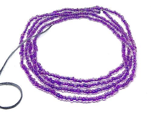 50in Purple & Silver w/Tie Closure