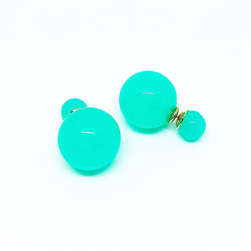 Turquoise Double Sided Ball Earrings