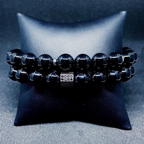 Men's 10mm Black Onyx w/Accents
