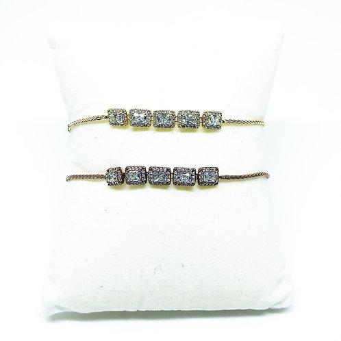 Sterling Silver 925 CZ Toggle Bracelets