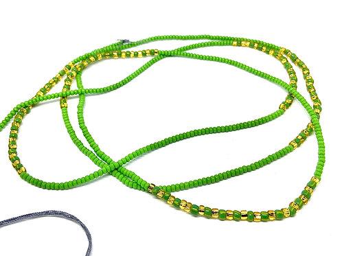 40in Green & Gold w/Tie Closure