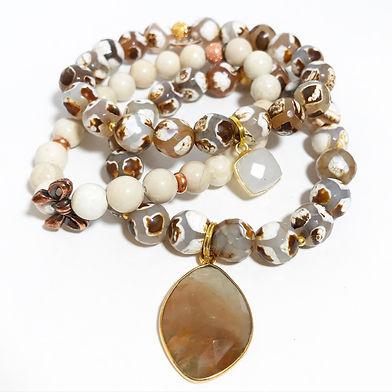 Natural Stone Beaded Bracelets