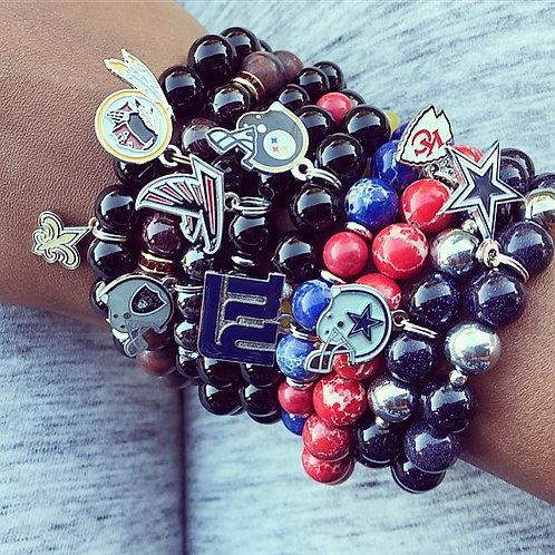NFL/NBA/MLB Unisex Team Bracelets in 10mm Beads