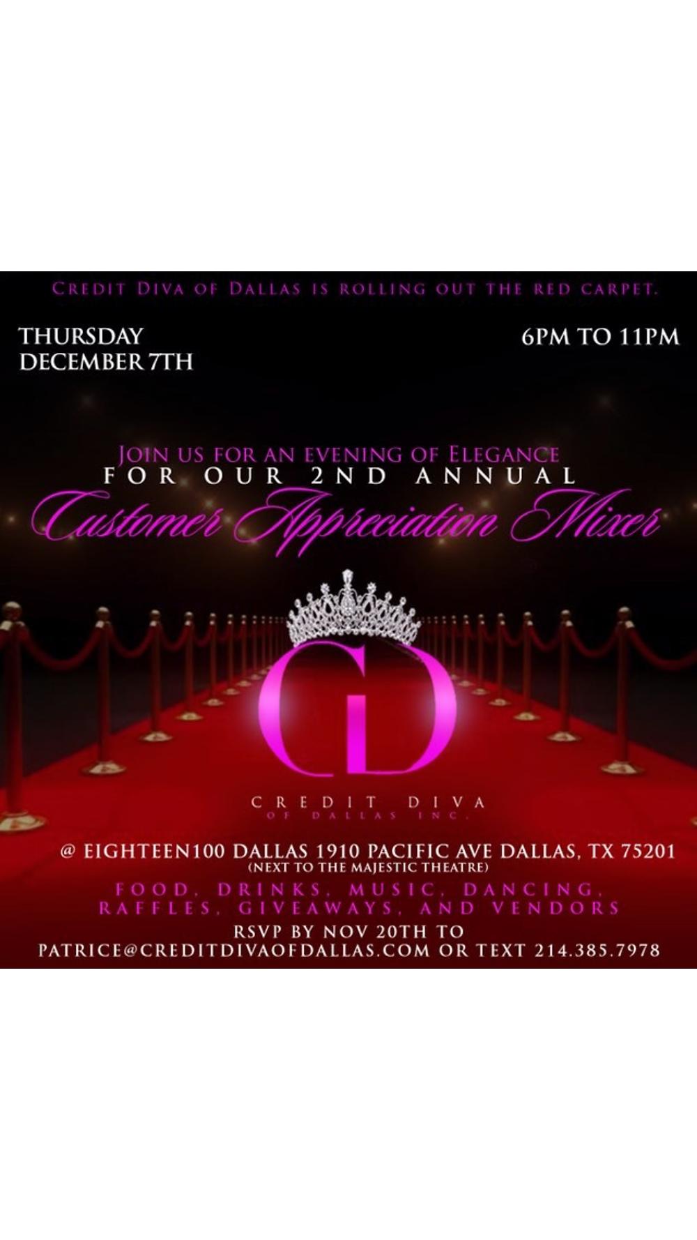December 7th Dallas Vendor Event