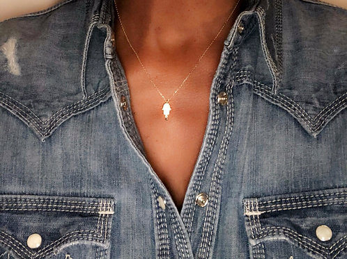 16in-18in Adustable Gold Pendant Necklace