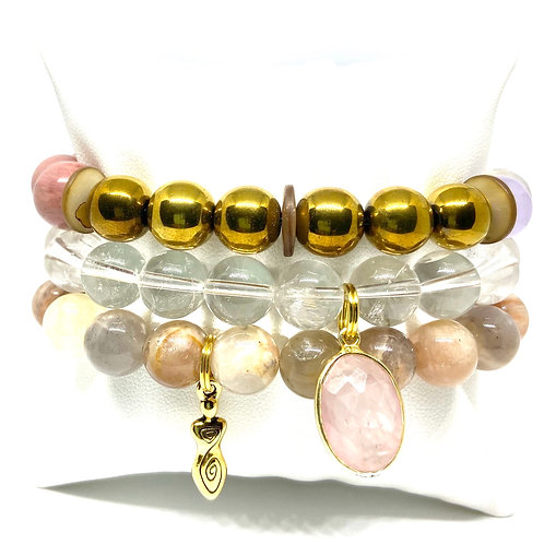 10mm Hues of Gold, Clear & Multicolored w/Accents
