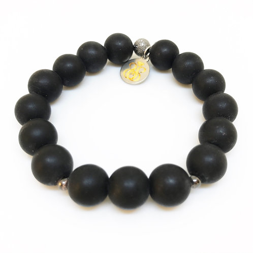 10mm Boy's Matte Onyx Bracelet