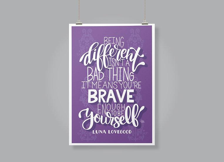 Harry Potter-Luna Lovegood Quote Print
