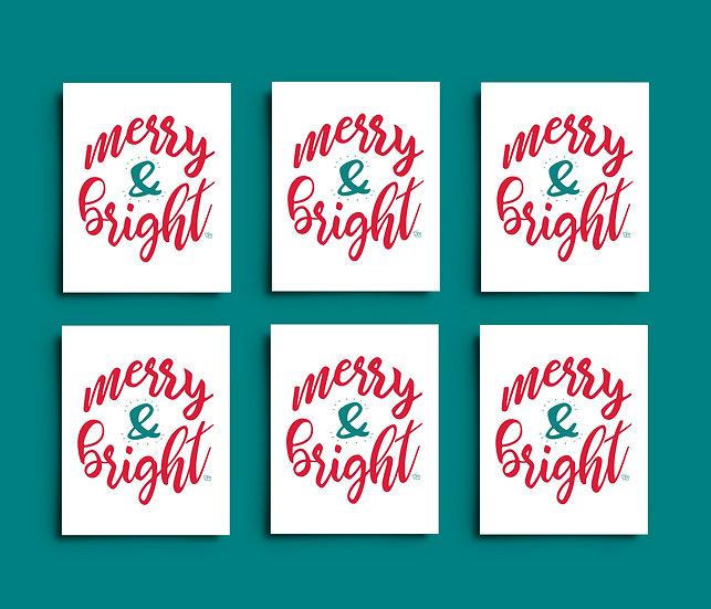 Merry & Bright - Set of 6