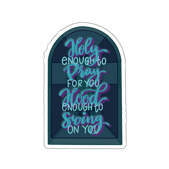 Holy & Hood Kiss-Cut Sticker