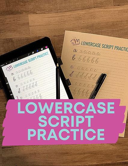 Lowercase Script Practice